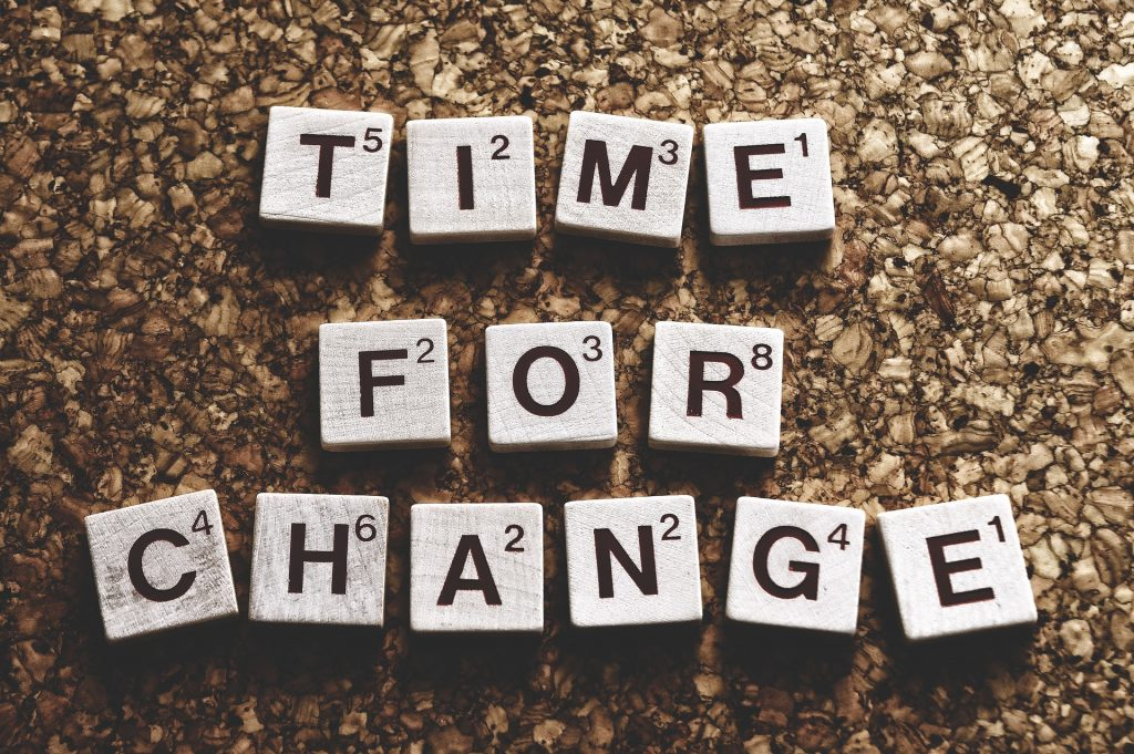 Why we Resist Change & How to Overcome Stagnation Time-for-a-change-3842467_1920-1024x681
